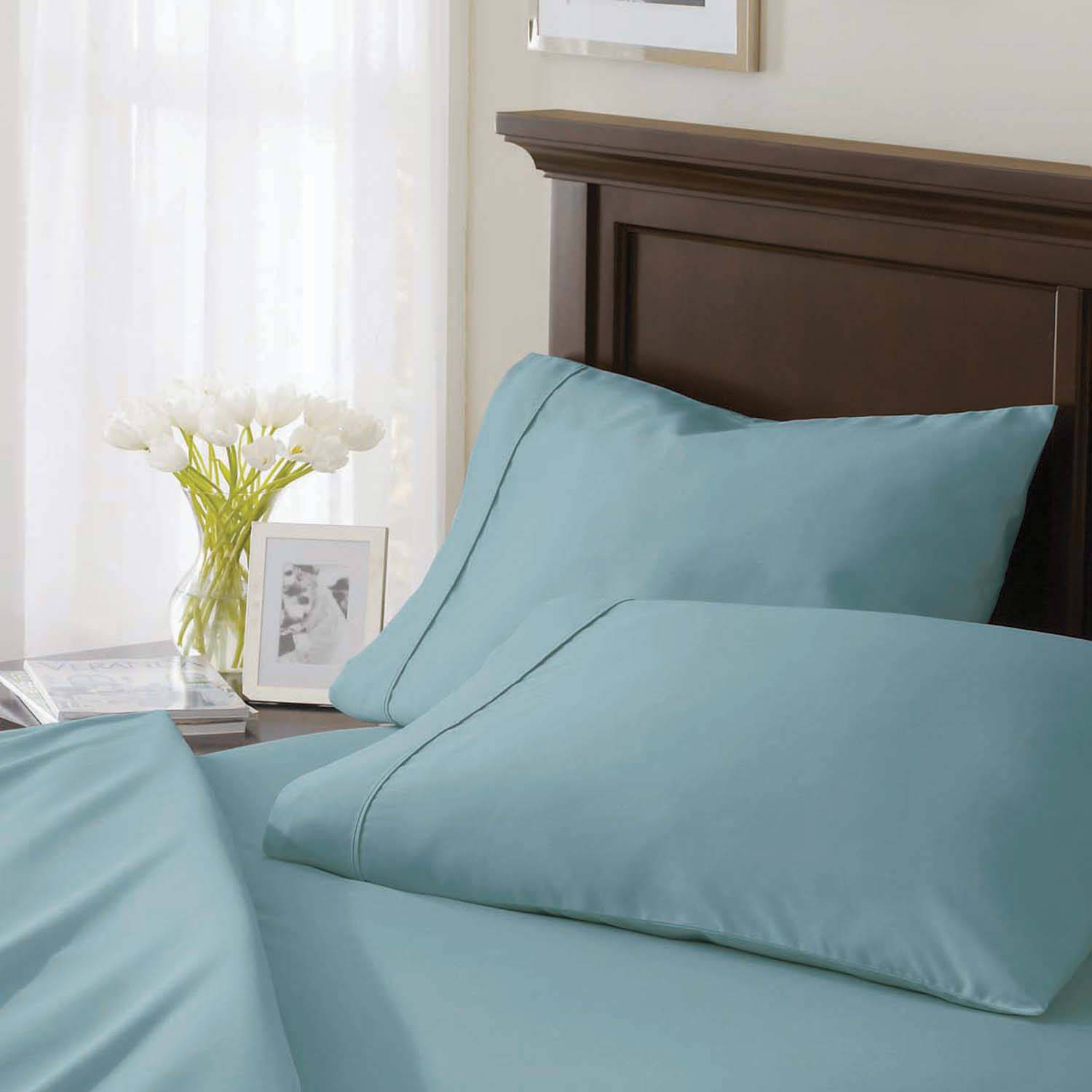 Better Homes and Gardens 400-Thread-Count Solid Pillowcase, Sheer Romance