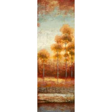 Glowing Red Trees II Poster Print by Michael Marcon