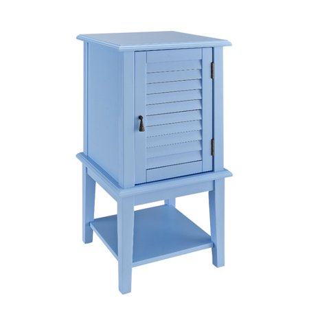 Shutter Door Accent Table, Multiple Colors