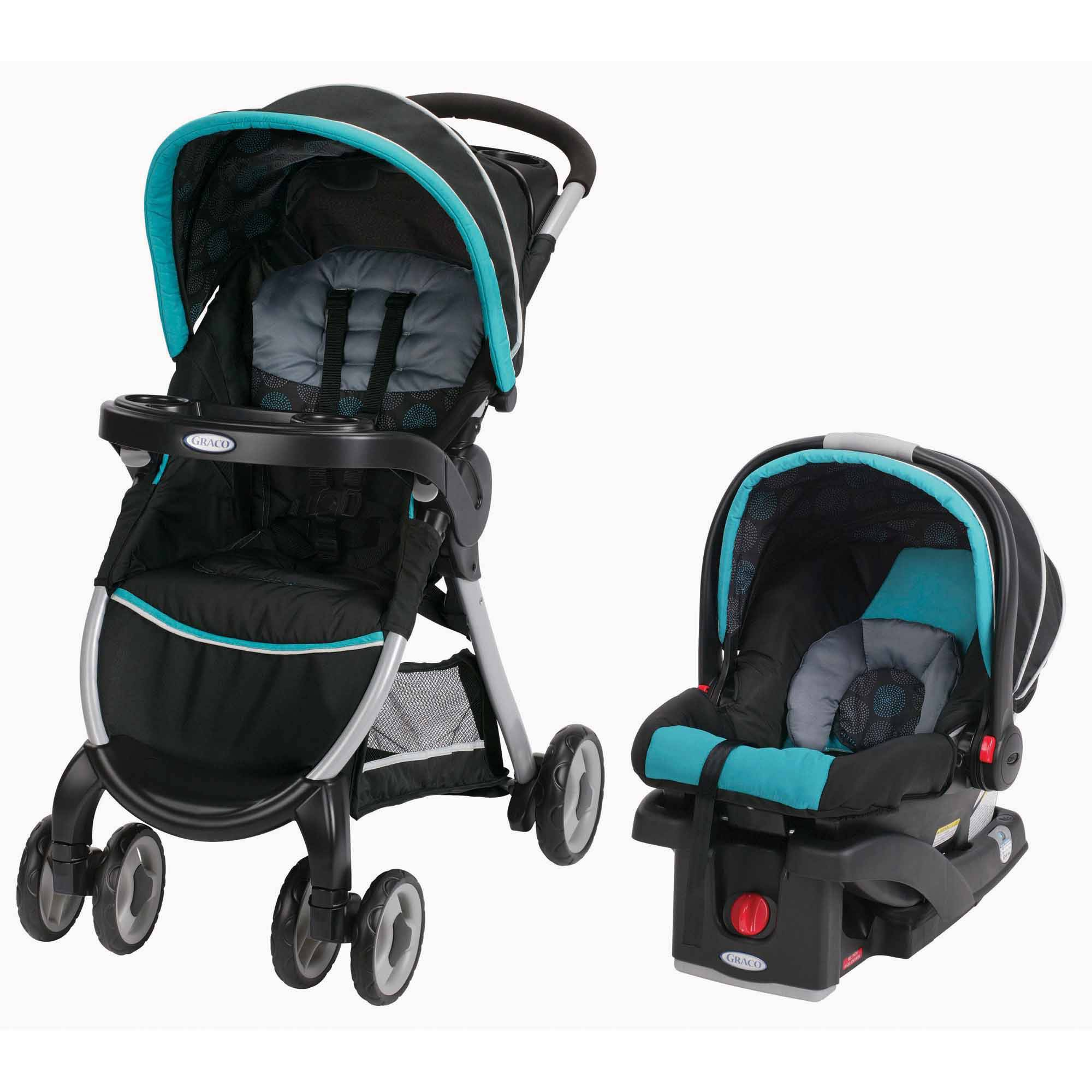 Graco fastaction fold click connect travel system car seat stroller combo choose your color walmart com