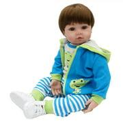 "Zimtown 24"" Body Vinyl Silicone Reborn Baby Dolls Realistic Newborn Boy Doll"