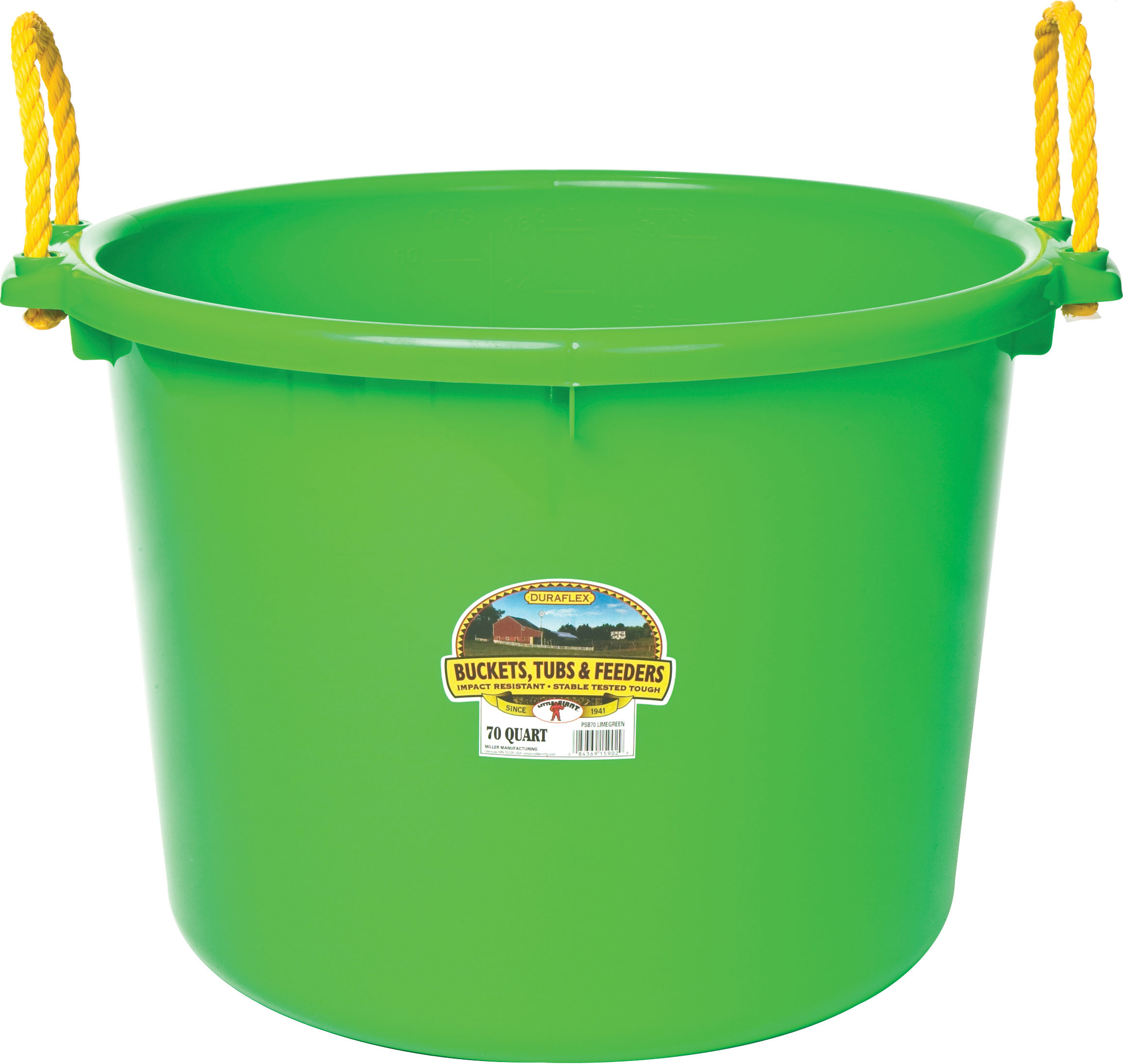 Miller Mfg Co Inc P-Little Giant Muck Tub- Lime Green 70 Quart
