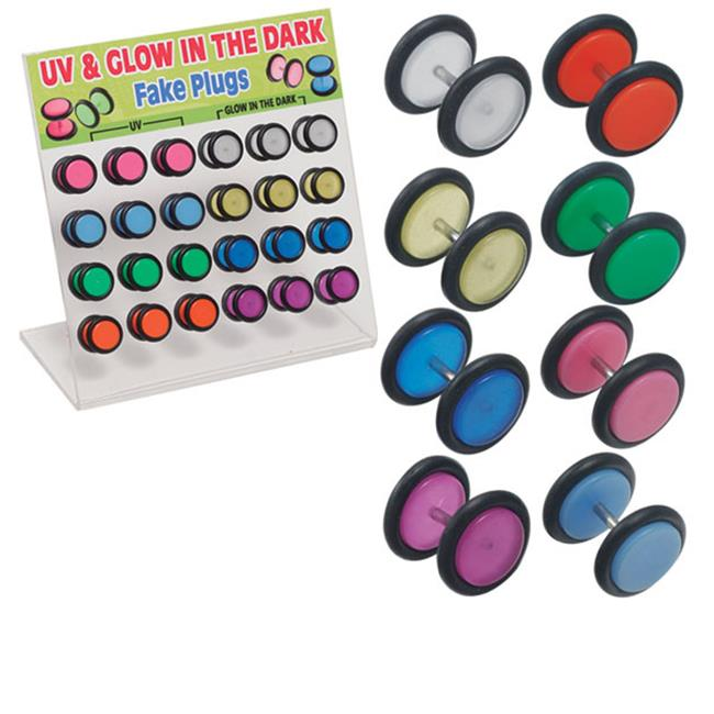 Puka 12843 UV & Glow The Dark Fake Plugs