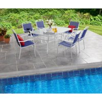 Mainstays Sand Dune 7-Piece Sling Dining Set