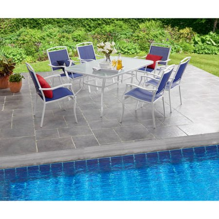 Mainstays Sand Dune 7-Piece Sling Dining Set ()