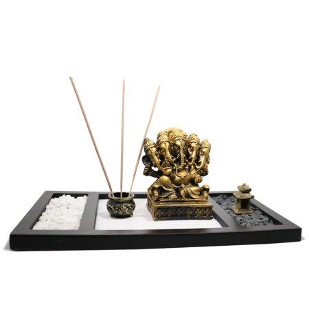 2 Candle Trays (Candle Incense Burner Stand Set Meditation Kit Elephant Ganesha Sand Garden Blessing Zen Yoga Tray)