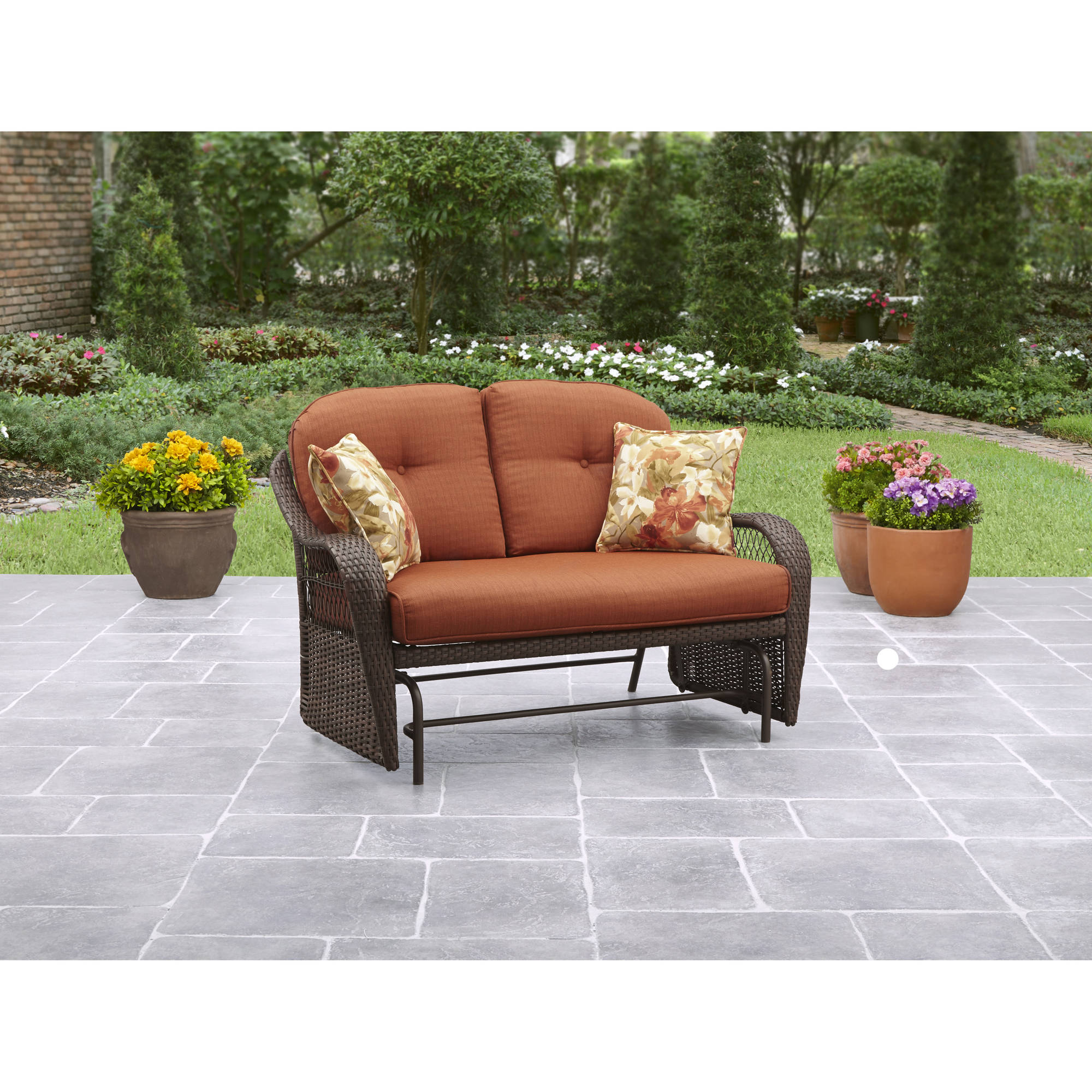 Better Homes Gardens Azalea Ridge 2 Person Outdoor Glider Vermillion