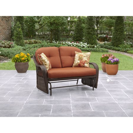 Better Homes & Gardens Azalea Ridge 2-Person Outdoor Glider, Vermillion