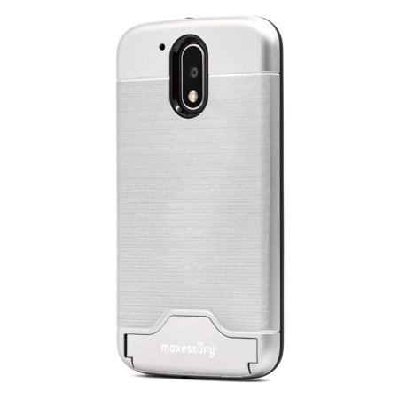 best service 361b3 4dcdb Motorola G4 Case, Moto G4 Plus Case, Maxessory Maestro Credit Card Holder  Shock-Proof Kickstand Dual-Layer Shield Hybrid Matte Slim Premium ...