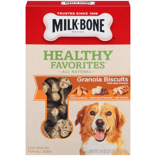 Milk-Bone Healthy Favorites Granola Dog Biscuits With Real Chicken, 18-Ounce