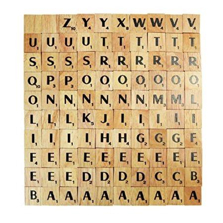ivory font 100 brand new complete set wooden scrabble tiles letter