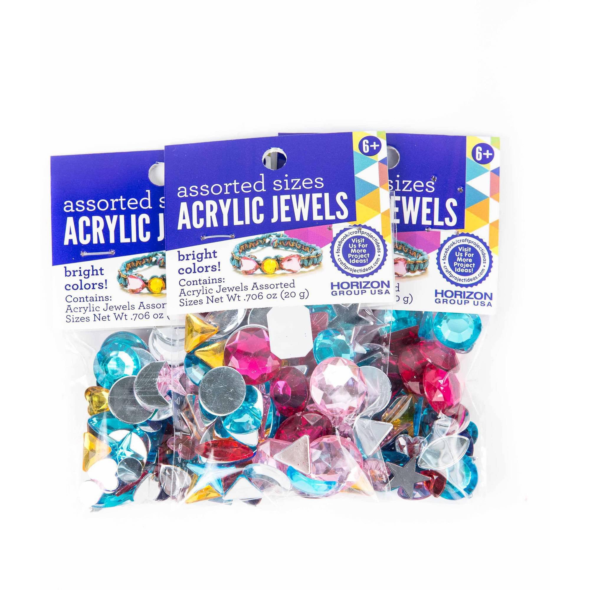 Assorted Shapes Acrylic Jewels, 3PKS - .70oz Each by Horizon Group USA