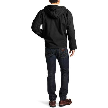 Dickies Men's Big & Tall Duck Sherpa Lined Hooded Jacket - Black 4XL