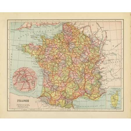 French Map Ii Poster Print By Gwendolyn Babbitt