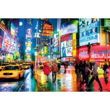 New York City Times Square Lights Photo Art Print Poster 36x24, MADE IN THE USA using high quality 36x24 poster paper By Gotham City Online - Party City Apply Online