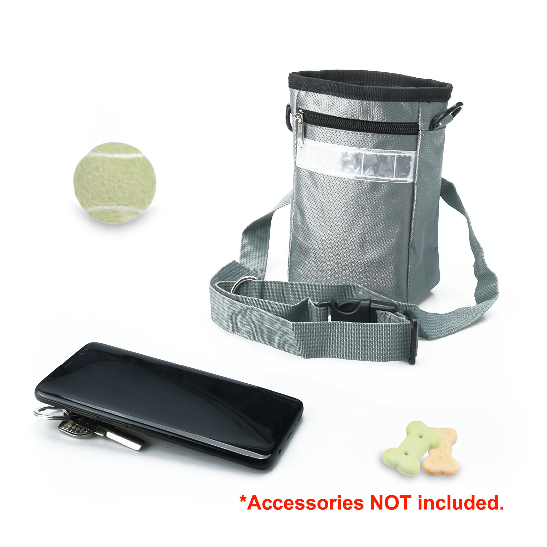 Dog Training Pouch Pet Training Accessory Holder Easily Carries Pet Toy With Adjustable Straps Black