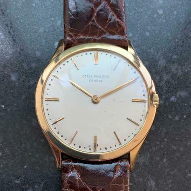 PATEK PHILIPPE Men's 18K Gold Geneve Calatrava 2589 Hand Wind c1960s Swiss MS223 - Patek Philippe Geneve Watch