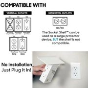 Home Durable High-quality Electrical Socket Shelf 8 Port Surge Protector 6 Wall Outlet Extenders 2 USB Socket Shelf