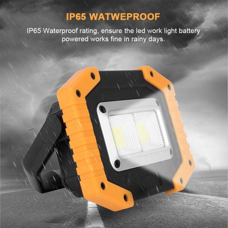 2 Pack LED Flood Light ,Rechargeable IP65 Outdoor Security Garden Landscape Spot Lamp Yard Spotlight, 30W 800LM - image 1 of 10