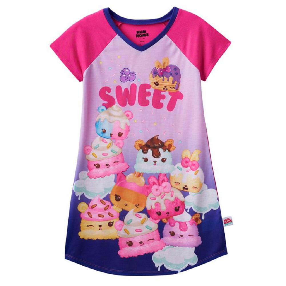 Num Noms Girls Scented Nightgown Pajamas Medium 7-8, Swee...