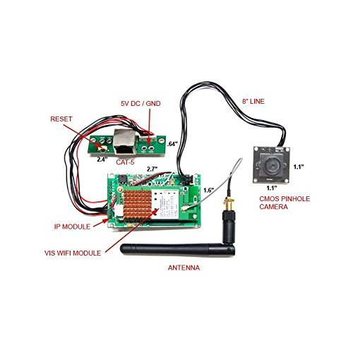 Spy-MAX Security Wifi Module Spy Cam Kit - Create Your Own Remote Live View Cam