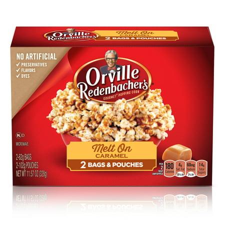 (2 pack) Orville Redenbacher's Melt On Caramel Microwave Popcorn, 2 bags, 2.19 Oz each
