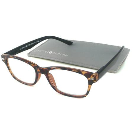 Gabriel + Simone Metro Tortoise and Black Unisex Reading Glasses