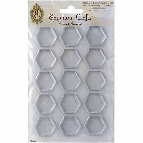 Epiphany Crafts Clear Bubble Caps, 5pk