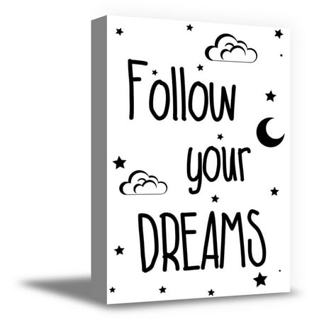 Awkward Styles Motivational Quotes Printed Canvases Baby Room Wall Art Decor Follow Your Dreams Canvas Poster Kids Birthday Gifts for Girls Canvas Artwork Girls Room Wall Art Boys Room Poster](Artwork For Kids)