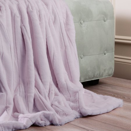 Best Home Fashion Luxe Faux Mink Throw