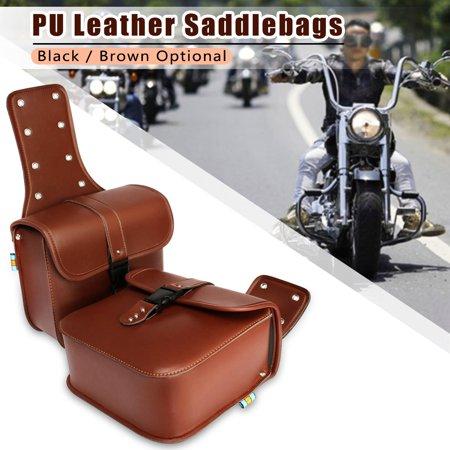 1Pair Universal Motorcycle Motorbike Saddlebags Cruiser Side saddlebag Storage Tool Pouches -