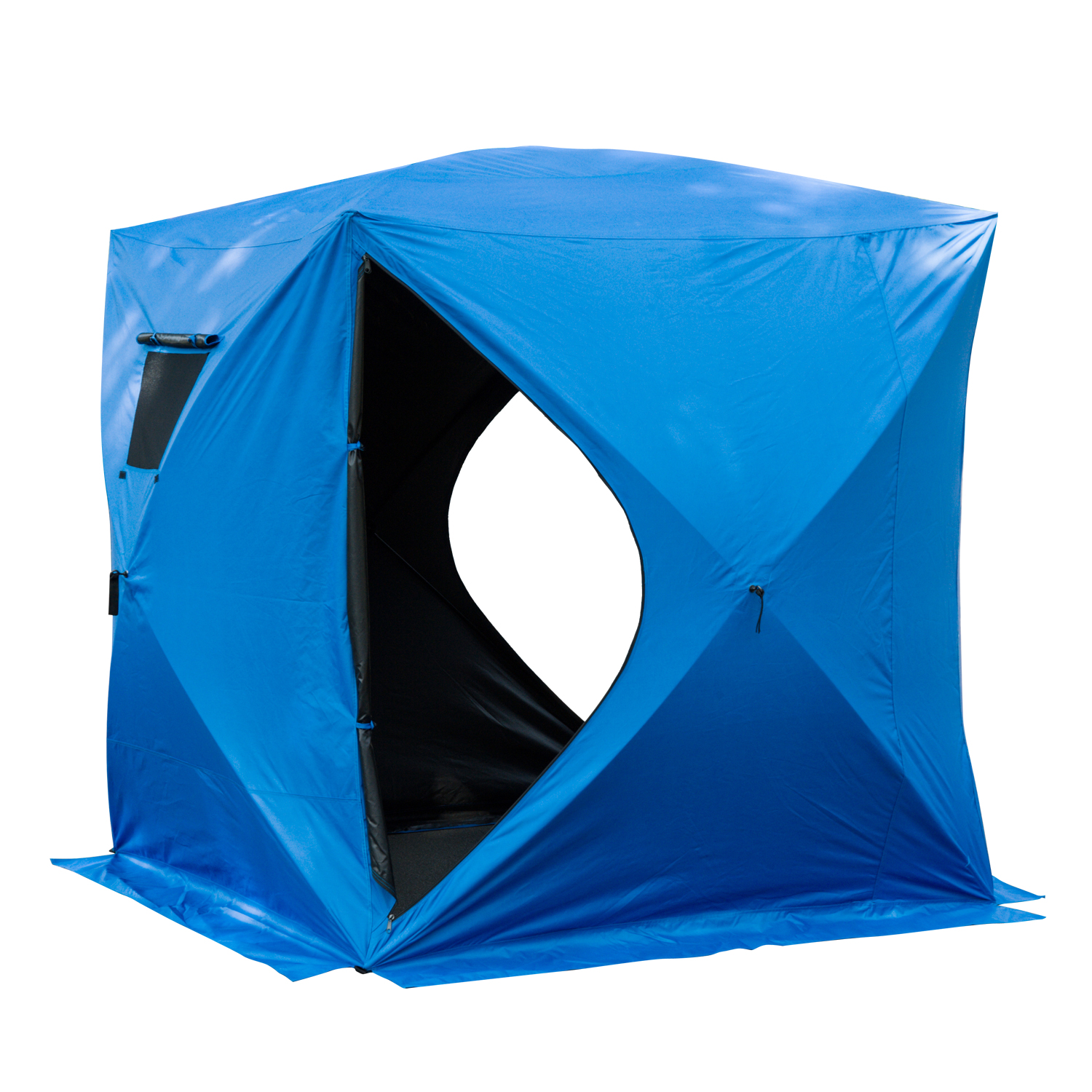 Outsunny Insulated Pop Up Portable Ice Fishing Shelter Tent (Single (2 4 Person)) by Aosom LLC