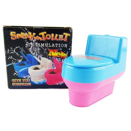 New Stool Toilet Seat Water Spray Trick Make Funny Spoof Vent Mini Interesting Joke Toys in Party Prank Gag - Jokes And Gags Toys