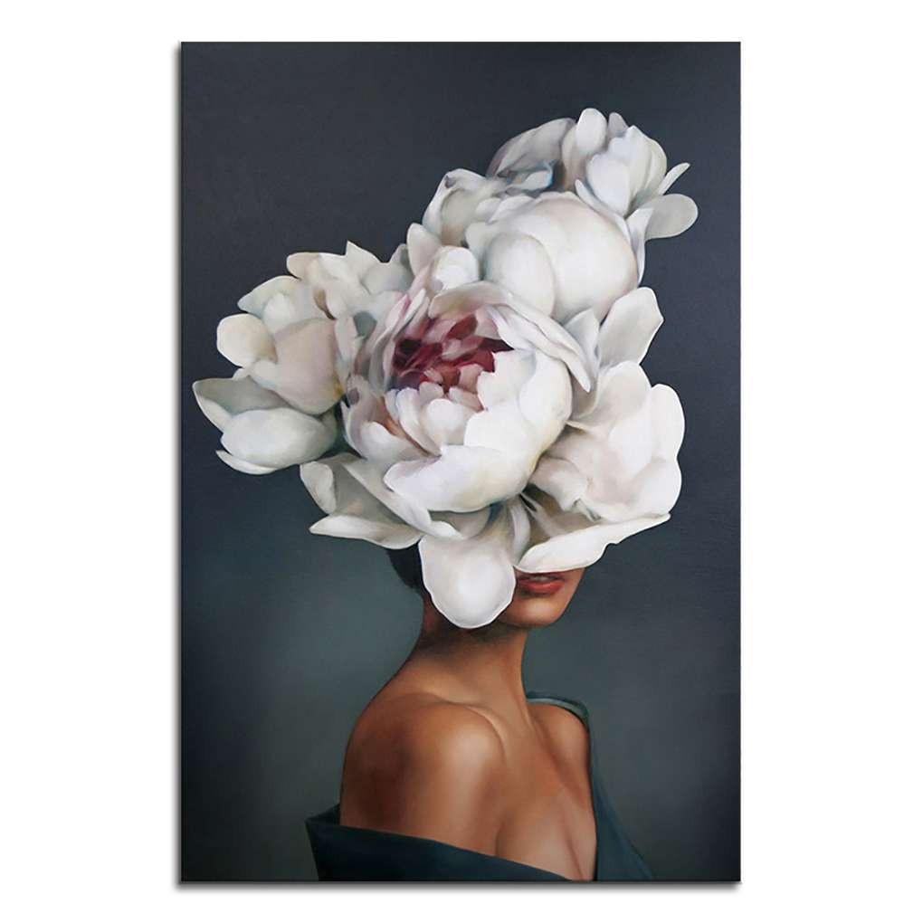 Homeholiday Feather Body Art Canvas Hd Printed Oil Painting Girl Women Posters Pictures Not Framed For Bedroom Living Room Walmart Canada