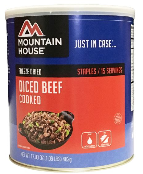 Mountain House (6 Pack) Diced Beef #10 Can by Mountain House
