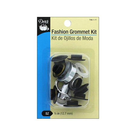 Dritz Fashion Grommet Kit Black 8pc w/tool