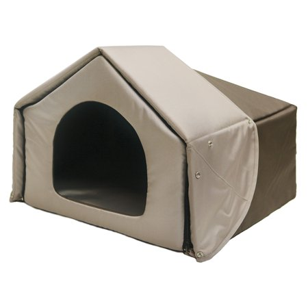 Richell Convertible Pet Bed House Brown 26.2
