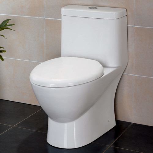 Fresca Serena Dual Flush Elongated One-Piece Toilet (Seat Included)
