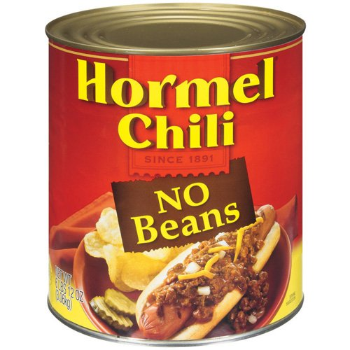 Hormel Chili No Beans, 108 oz