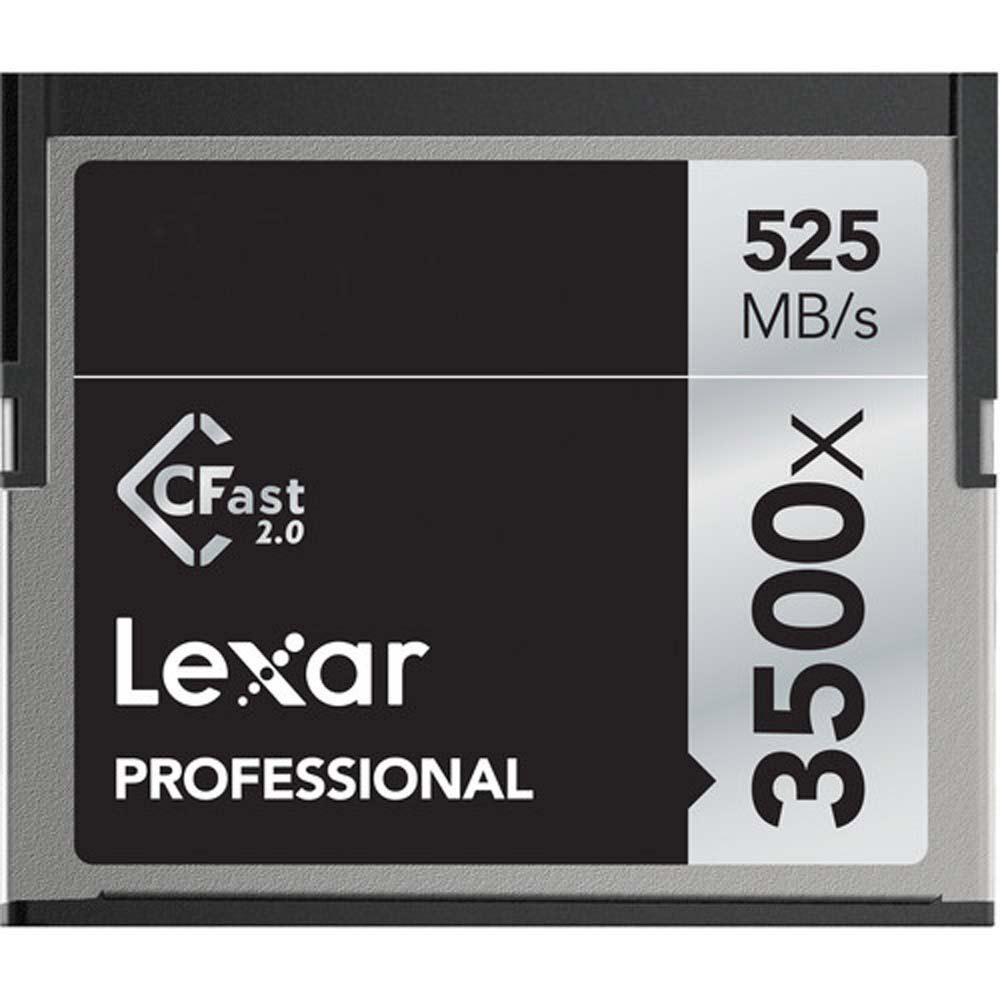 Lexar Professional 3500x CFast 2.0 Memory Card for 4K Video Cameras - LC64GCRBNA