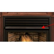 """Fireplace Black Hood for Direct Vent Gas - 32"""""""