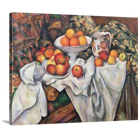 - Great BIG Canvas | Paul Cezanne Premium Thick-Wrap Canvas entitled Apples and Oranges, 1895 1900