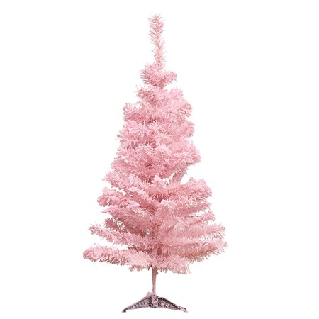 23.62'' Artificial Christmas Tree, Justdolife Decorative Frosted Christmas Pine Tree Tabletop Desk Home Christmas Decoration (Pink) - Decorate Desk