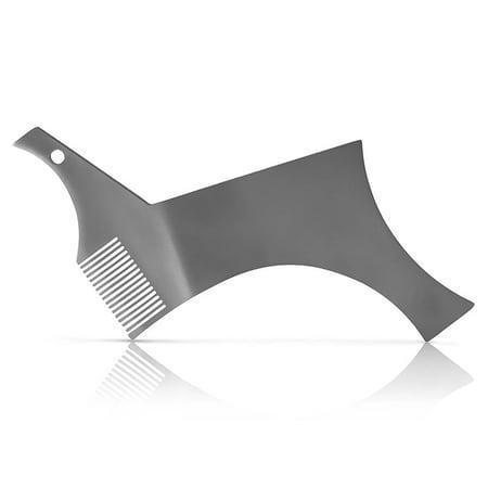 Barbe Shaper Pochoir en acier inoxydable Guide de mise en forme de barbe et outil de style pour un alignement parfait - image 1 of 7