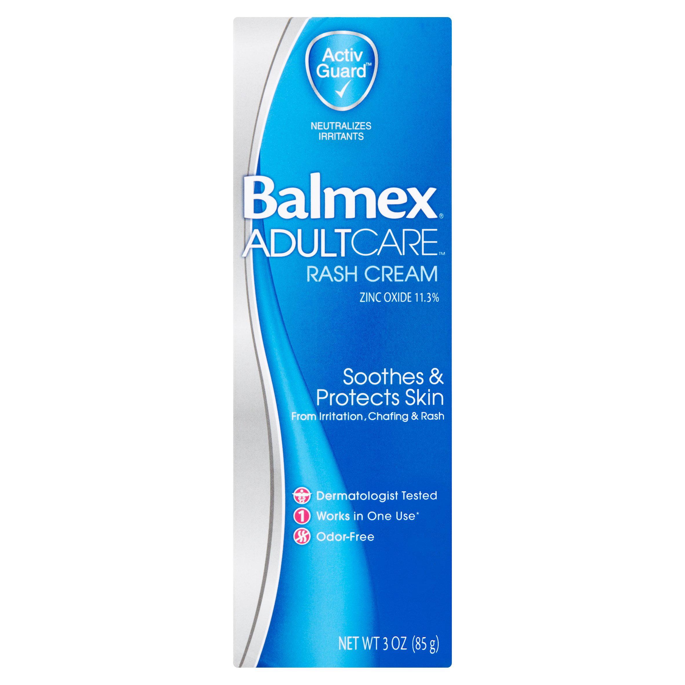 Balmex Adult Care Rash Cream, 3 oz by Moberg Pharma North America LLC
