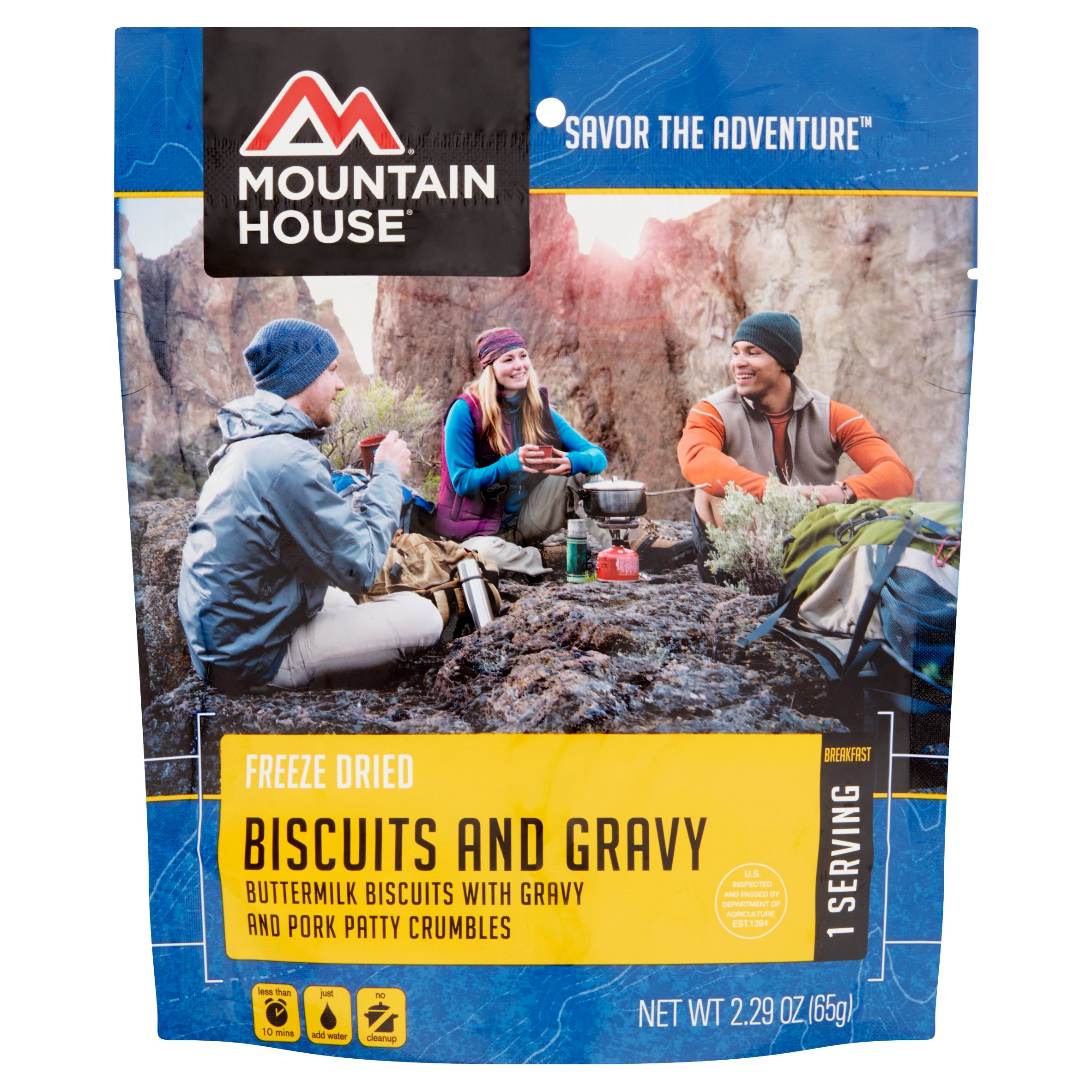 Mountain House Savor the Adventure Freeze Dried Biscuits and Gravy, 2.29 oz by Mountain House is a division of Oregon Freeze Dry, Inc.