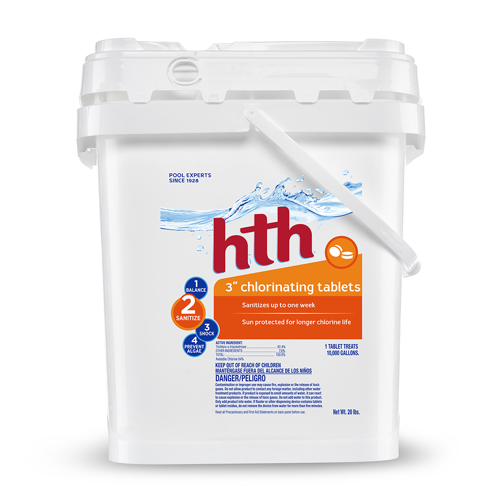 "hth 3"" Chlorinating Tablets, 20 lbs"
