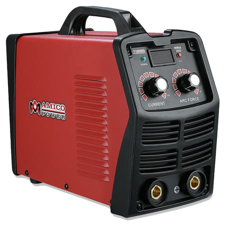 Amico MMA-200 Amp Digital Display LCD Stick ARC DC Inverter Welder, 110V & 230V Dual Voltage Welding ()