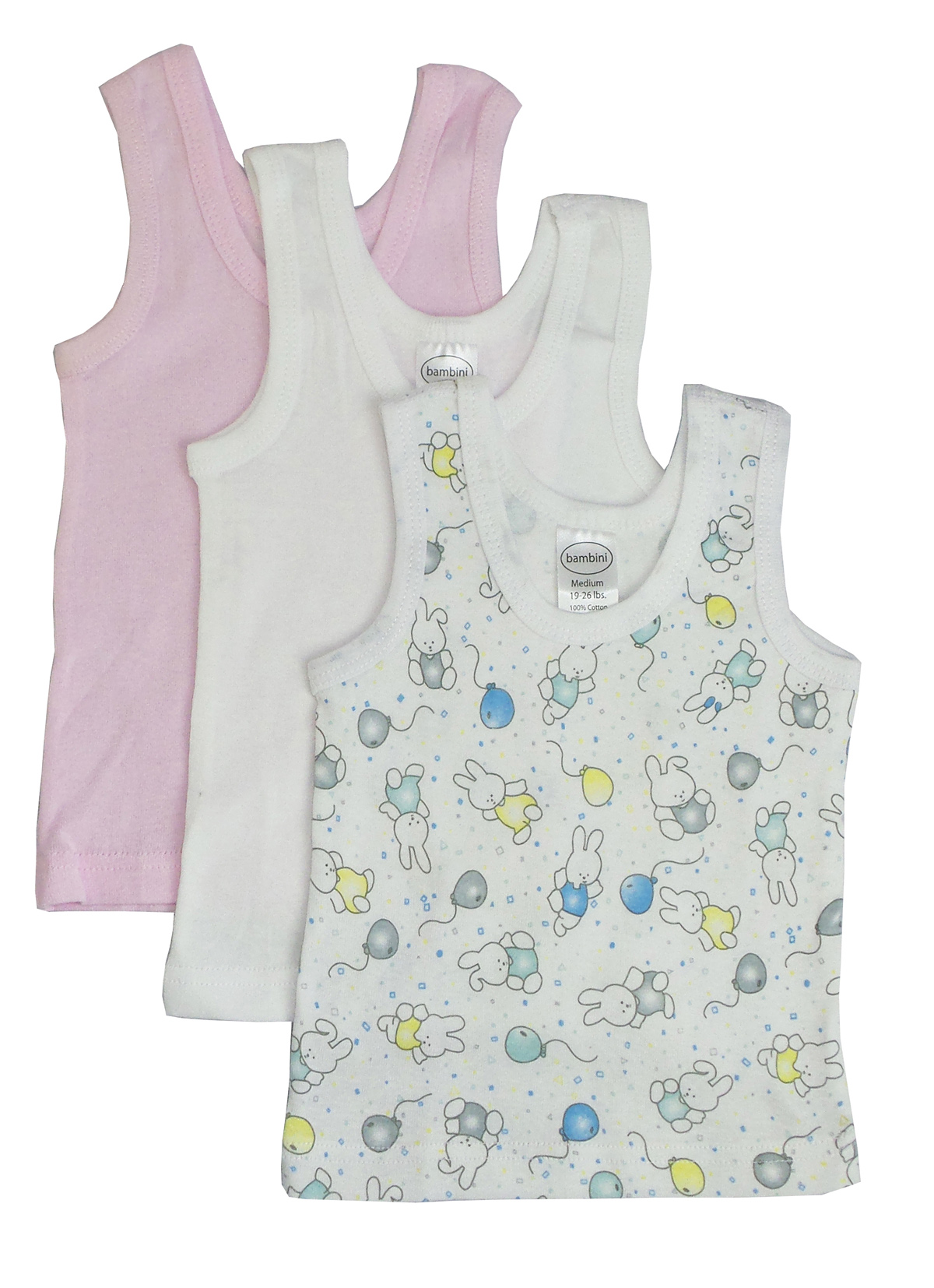 Girls Printed Tank Top Variety 3 Pack