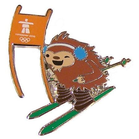 Vancouver 2010 Olympics Quatchi Alpine Skiing Mascot Pin Atlanta 1996 Olympics Pin
